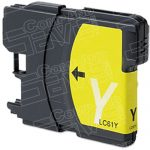 Brother Compatible LC65Y High Yield Yellow Ink cartridge (LC65 Series)