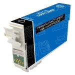 Remanufactured Epson #124 T124120 (T1241) Moderate Yield Black Pigment Based Ink Cartridge