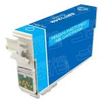 Remanufactured Epson #124 T124220 (T1242) Moderate Yield Cyan Pigment Based Ink Cartridge