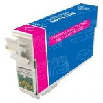 Remanufactured Epson #124 T124320 (T1243) Moderate Yield Magenta Pigment Based Ink Cartridge