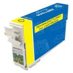 Remanufactured Epson #124 T124420 (T1244) Moderate Yield Yellow Pigment Based Ink Cartridge