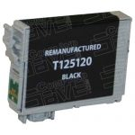 Remanufactured Epson #125 T125120 (T1251) Black Pigment Based Ink Cartridge