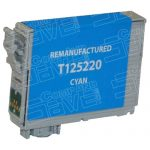Remanufactured Epson #125 T125220 (T1252) Cyan Pigment Based Ink Cartridge