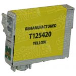 Remanufactured Epson #125 T125420 (T1254) Yellow Pigment Based Ink Cartridge
