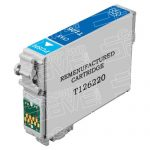 Remanufactured Epson #126 T126220 (T1262) High Yield Cyan Pigment Based Ink Cartridge