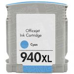 Replacement for Hewlett Packard C4907AN (HP 940XL High Yield Cyan) Ink Cartridge with working Ink Indicator Chip