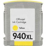Replacement for Hewlett Packard C4909AN (HP 940XL High Yield Yellow) Ink Cartridge with working Ink Indicator Chip