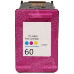 Replacement for Hewlett Packard (HP) CC643WN (HP 60) Tri Color Ink Cartridge
