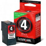 Lexmark OEM 18C1974 (#4) Genuine Black Ink Cartridge