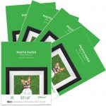 Premium Leather Textured Glossy Inkjet Photo Paper (8.5″ x 11″) 100 sheets – 230g