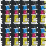 New Compatible Brother LC-61 Series (LC61 Combo-Pack of 40) High Capacity Inkjet Cartridge for Brother LC61BK, LC61C, LC61M & LC61Y