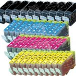 Canon New Compatible Wholesale-Pack of 40 (10 Black BCI-3eBk, 10 Cyan BCI-6C, 10 Magenta BCI-6M, 10 Yellow BCI-6Y) Inkjet Cartridge for Canon i560, Pixma iP3000 Printers