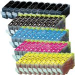 Canon New Compatible Wholesale-Pack of 50 (10 Black BCI-3eBk, 10 Black BCI-6BK, 10 Cyan BCI-6C, 10 Magenta BCI-6M, 10 Yellow BCI-6Y) Inkjet Cartridge for Canon i860, Pixma iP4000, iP5000, MP750 and MP780 Printers
