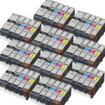 (With Chip) New Compatible Canon PGI-220 CLI-221 Series (Combo-Pack of 50) High Capacity Inkjet Cartridge for Canon PGI-220BK, CLI-221BK, CLI-221C, CLI-221M & CLI-221Y