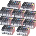 (With Chip) New Compatible Canon PGI-5 CLI-8 Series (Combo-Pack of 50) High Capacity Inkjet Cartridge for Canon PGI-5BK, CLI-8BK, CLI-8C, CLI-8M & CLI-8Y