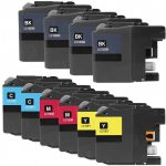 Brother Compatible LC10E Series Super High Yield XXL Ink cartridge (Bulk Set of 10):  4 Black, 2 Cyan, 2 Magenta, 2 Yellow