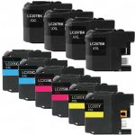 Brother Compatible LC207 LC205 Series Super High Yield XXL Ink cartridge (Set of 10): 4 (LC207BK), 2 (LC205C), 2 (LC205M), 2 (LC205Y).