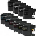 Brother Compatible LC209 & LC205 XXL (Color Set of 10) Super High Yield Ink cartridge: 4 Black, 2 Cyan, 2 Magenta, 2 Yellow