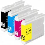 New Compatible Brother LC-51 Series (LC51 Bulk Set of 4 Packs) High Capacity Inkjet Cartridge for DCP IntelliFax MFC Printers