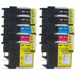 New Compatible Brother LC-61 Series (LC61 Bulk Set of 10 Packs) High Capacity Inkjet Cartridge for DCP MFC Printers