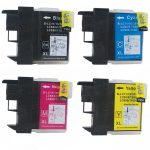 New Compatible Brother LC-61 Series (LC61 Bulk Set of 4 Packs) High Capacity Inkjet Cartridge for DCP MFC Printers
