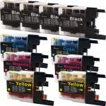 New Compatible Brother LC75 XL (Bulk Set of 10 Packs) High Yield Inkjet Cartridge (LC75 Series)