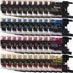 New Compatible Brother LC75 XL (Bulk Set of 40 Packs) High Yield Inkjet Cartridge (LC75 Series)