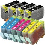 Canon New Compatible Combo-Pack of 10 (4 Black BCI-3eBk, 2 Cyan BCI-6C, 2 Magenta BCI-6M, 2 Yellow BCI-6Y) Inkjet Cartridge for Canon i560, Pixma iP3000 Printers
