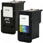 Replacement for Canon PG-240 Black & CL-241 Color (Bulk Set of 2-Pack) Inkjet Cartridge: 1 PG240 & 1 CL241
