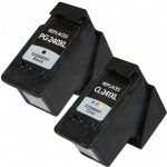 Replacement for Canon PG-240XL Black & CL-241XL Color (Bulk Set of 2-Pack) High Yield Inkjet Cartridge: 1 PG240XL & 1 CL241CL