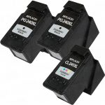 Replacement for Canon PG-240XL Black & CL-241XL Color (Bulk Set of 3-Pack) High Yield Inkjet Cartridge: 2 PG240XL & 1 CL241CL
