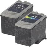 Canon PG-40 (PG40) CL-41 (CL41) Black & Tri-Color Bulk Set of 2 Replacement Inkjet Cartridge