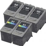 Canon PG-50 PG50 CL-51 CL51 High Capacity Black & Tri-Color Bulk Set of 5 Replacement Inkjet Cartridge