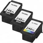 Replacement for Canon PG-245XL Black & CL-246XL Color (Bulk Set of 3-Pack) High Yield Inkjet Cartridge: 2 PG245XL, 1 CL246XL