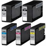 Compatible Canon PGI-1200XL (Bulk Set of 5-Pack) High Yield Ink Cartridge: 2 Black, 1 Cayn, 1 Magenta, 1 Yellow