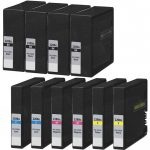 Compatible Canon PGI-2200XL (Bulk Set of 10-Pack) High Yield Ink Cartridge: 4 Black, 2 Cayn, 2 Magenta, 2 Yellow