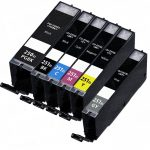 Compatible Canon PGI-250XL & CLI-251XL (Bulk Set of 6-Pack) High Yield Inkjet Cartridge:  1 each of Pigment Black (PGI-250XL) / Black / Cyan / Magenta / Yellow / Gray (CLI-251XL)