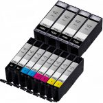 Compatible Canon PGI-270XL CLI-271XL (Combo Pack of 12) High Yield Inkjet Cartridge: 4 PGI-270XL, 2 each of CLI-271XL Black / Cyan / Magenta / Yellow