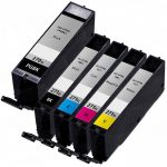 Compatible Canon PGI-270XL CLI-271XL (Combo Pack of 5) High Yield Inkjet Cartridges: 1 PGI270XL Pigment Black & 1 Each of CLI271XL Black / Cyan / Magenta / Yellow