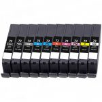 Compatible Canon PGI-72 / PGI72 Series (Color Set of 10) Ink Cartridge for Pixma Pro-10