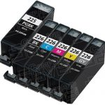 (With Chip) New Compatible Canon PGI225 & CLI226 (Set of 6 Pack) Inkjet Cartridges for Canon Pixma Printers