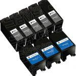 Compatible (Series 21) Y498D Black & Y499D Color (Bulk Set of 8-Pack) Ink Cartridges for Dell V313 Printers