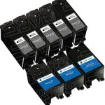 Compatible (Series 22) T091N Black & T092N Color (Set of 8-Pack) High Yield Ink Cartridge for Dell P513, V313 Printers
