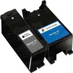 Compatible (Series 23) T105N Black & T106N Color (Set of 2-Pack) High Yield Ink Cartridge for Dell V515w Printers