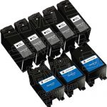 Compatible (Series 23) T105N Black & T106N Color (Set of 8-Pack) High Yield Ink Cartridge for Dell V515w Printers