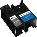 Compatible (Series 24) T109N Black & T110N Color (Set of 2-Pack) High Yield Ink Cartridge for Dell P713, V715 Printers