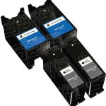 Compatible (Series 24) T109N Black & T110N Color (Set of 4-Pack) High Yield Ink Cartridge for Dell P713, V715 Printers