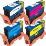 Compatible (Series 33 / 34) Bulk Set of 4 Extra High Yield Ink Cartridge for Dell V525w & V725w Printers: 1 Black, 1 Cyan, 1 Magenta & 1 Yellow