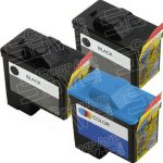 Replacement for Dell Black T0529 and Color T0530 (Series 1) Bulk Set of 3 Inkjet Cartridges for Dell 720 A920 All-In-One Printers