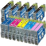 Remanufactured Epson 48 Series (T048 Bulk Set of 15 Packs) Inkjet Cartridges for Stylus Photo Printers